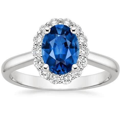 Benih Bunga Lotus 7 Sapphire Sapphire Lotus Flower Ring 1 3 Ct Tw In Platinum
