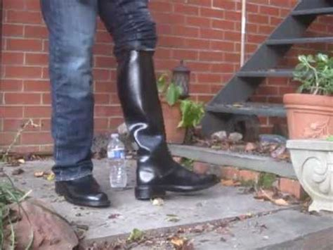 motorcycle patrol boots 19 inches  stomping plastic youtube