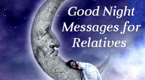 good night message for someone special for him messages for relatives