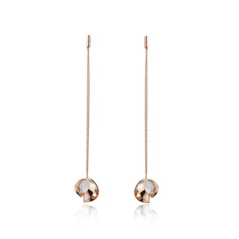 Drop Earring gold quartz chain drop earrings stonechat jewellers