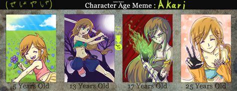 Age Meme - akari age meme by seshoyashajunior on deviantart