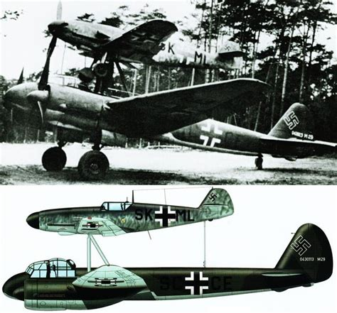 libro luftwaffe mistel composite bomber mistel german for quot mistletoe quot was the larger unmanned component of a composite aircraft