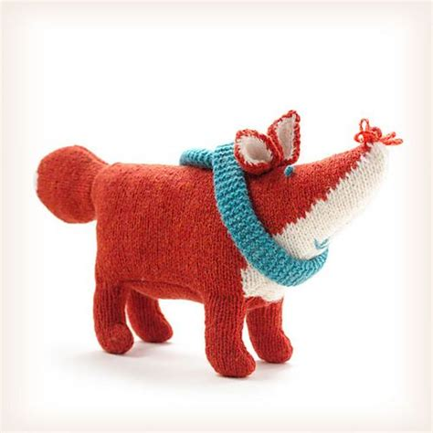 ravelry knitted toys florie fox pattern by lucinda fox pattern