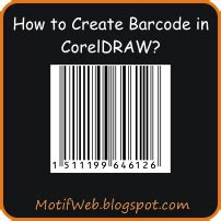 membuat barcode corel cara membuat barcode di coreldraw 171 motif web