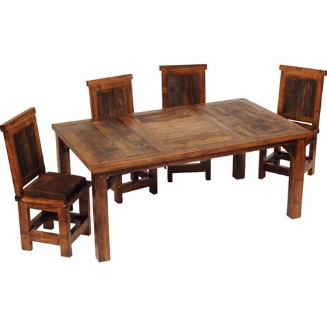 Reclaimed Wood Dining Room Furniture Rustic Dining Sets Bloggerluv