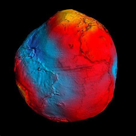 new gravity map reveals lumpy earth