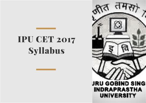 Ipu Cet Mba Syllabus 2017 by Ipu Cet 2018 Syllabus Pdf Ip Common Entrance