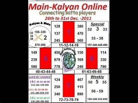 matka main mumbai open guessing number how kalyan close fix ank satta matka 100 passing youtube
