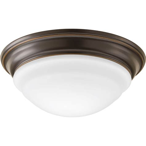 shop progress lighting led flush mount 11 in w antique