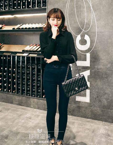 Mini Dress Kemeja Kerja Garis Lengan Panjang Baju Wanita Korea Import kemeja lengan panjang terbaru myrosefashion