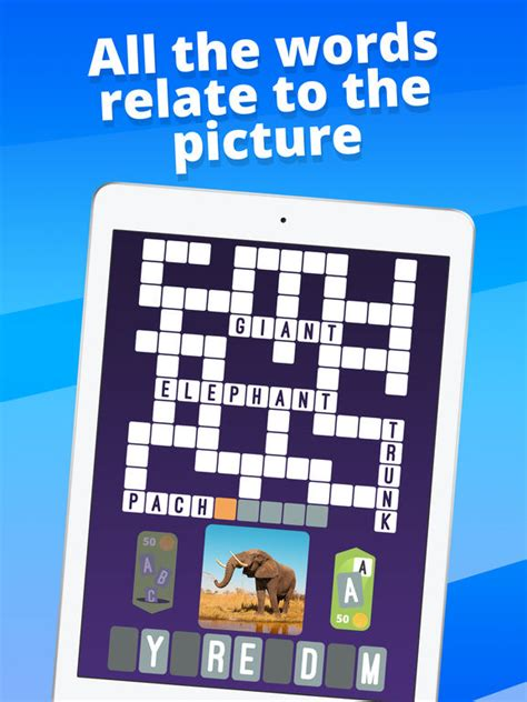 easy crossword puzzles for ipad crossword one clue picture crosswords on the app store