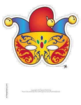 jester mask template free free mardi gras carnivale jester masquerade printable