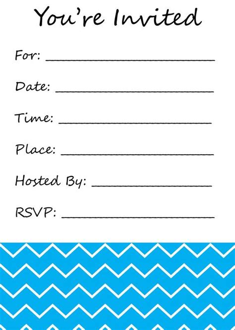 blank templates for invitations free you re invited fill in the blank invitation chevron print