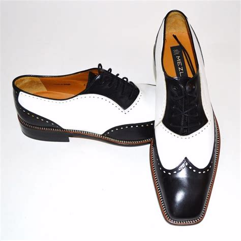 black and white shoes mezlan mens spectator shoes black white dress size 10 5
