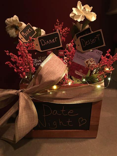 date night gift basket date night pinterest gaveideer