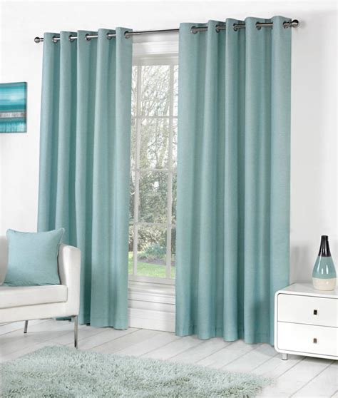 plain blue curtains bedroom sorbonne plain dyed heavy cotton eyelet ring top lined