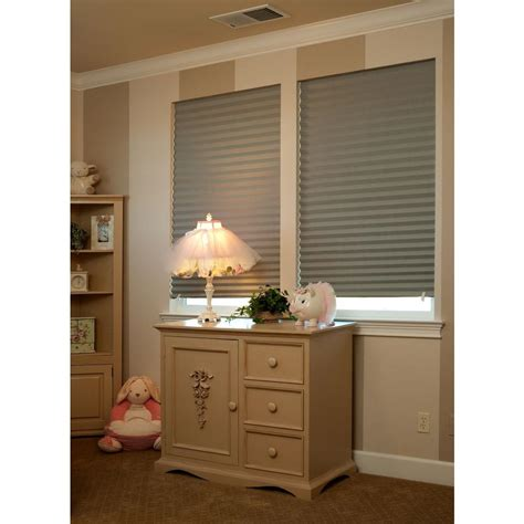 paper l shades redi shade gray paper room darkening window shade 36 in