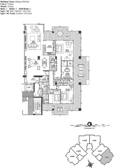 vista del sol floor plans palazzo del sol incredible residences in fisher island