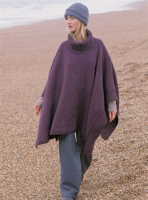 how to knit a poncho turtleneck knit poncho allfreeknitting