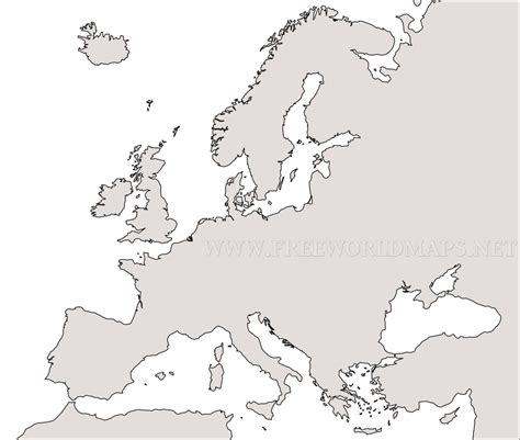 blank map of america and europe free printable maps of europe