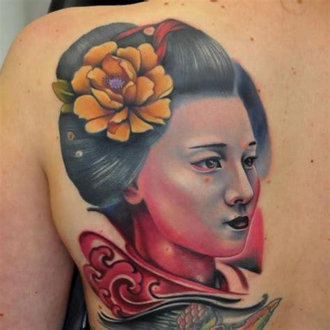 japanische r 252 cken geisha tattoo von rock tattoo
