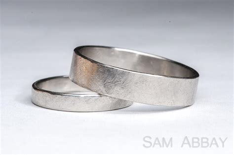 Wedding Ring Vs Normal Ring by Hammered Bands New York Wedding Ring