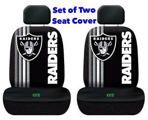 nfl oakland raiders printed logo car seat cover set