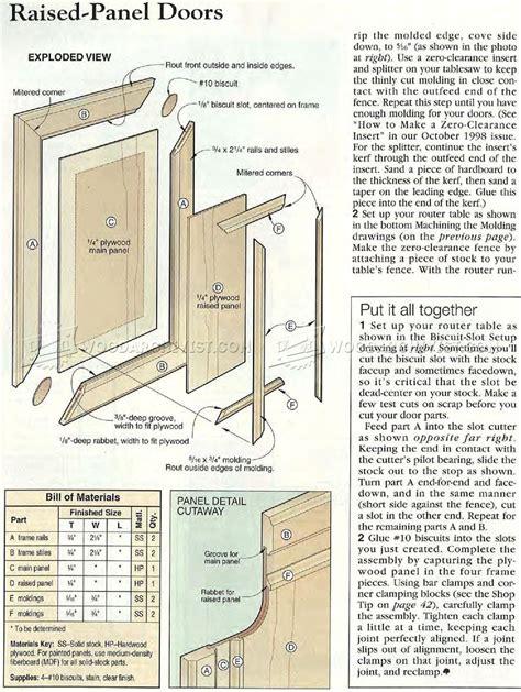 how to raised panel cabinet doors raised panel doors woodarchivist