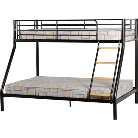 Metal Bunk Bed Frame Cheap Seconique Toby Black Metal 3 Sleeper Bunk Bed Frame For Sale At Discounted Prices