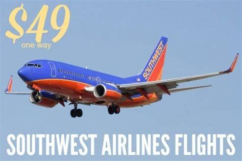one way flights on southwest airlines as low as 49