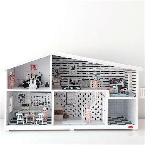 white doll house mini refurbished modern dollhouses chalk kids