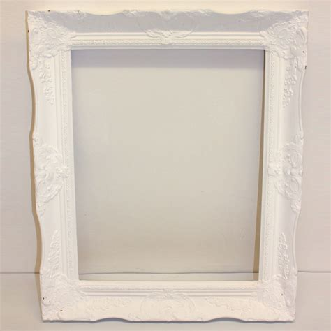 large white painted white picture frame large ten and a half thousand things
