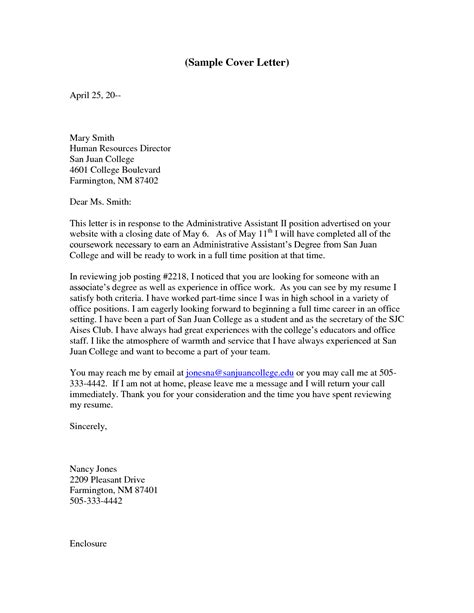 sle cover letter for resume administrative assistant 28