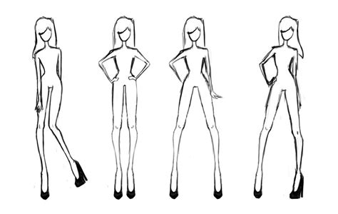 fashion design doll template juvenile style file april 2013