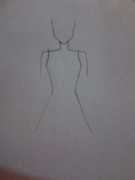 cara membuat sketsa dress sederhana