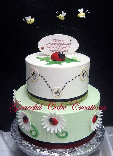 bug baby shower cake bumble bee and bug baby shower cake specialty cakes