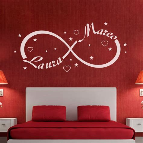 wall stickers da letto wall sticker adesivi murali simbolo infinito gigio