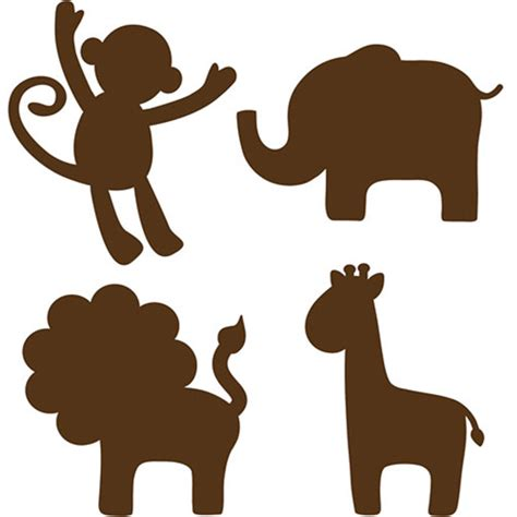 printable zoo animal silhouettes gallery elephant silhouette nursery