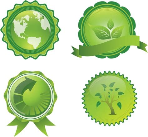 design for the environment seal earth conservation badges and seals free vector in adobe