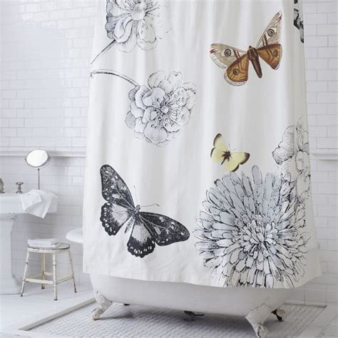 Butterfly Shower Curtains Butterfly Shower Curtain Modern Shower Curtains By West Elm