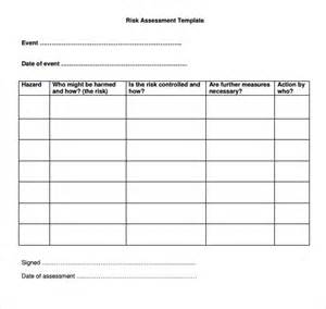 Emergency Risk Assessment Template by Health And Safety Disaster Plan What Is Risk Assessment