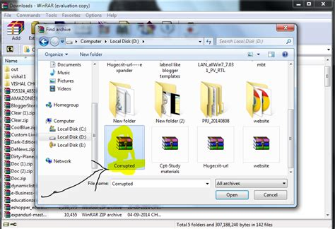 repair and extract corrupted rar file repair winrar files how to repair damaged rar files on window pc gadget council