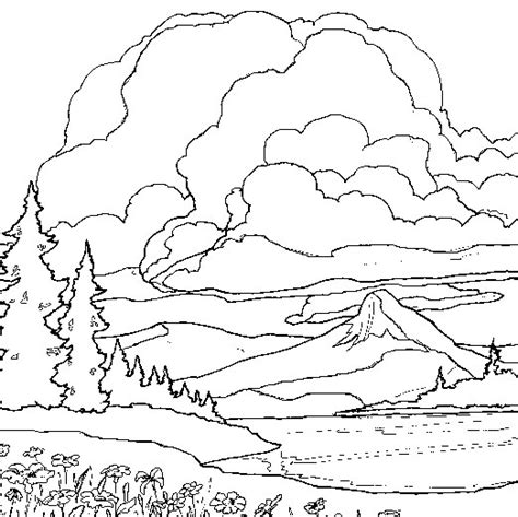 landscape coloring pages free coloring pages of landscape