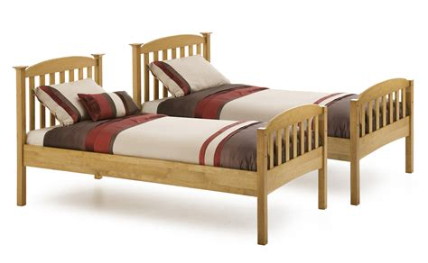 twin kids bed bedroom varnished wooden twin loftbed with storage