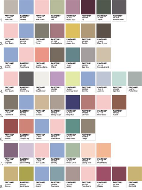 color palette 2016 pantone color of the year 2016 pantone color of the year