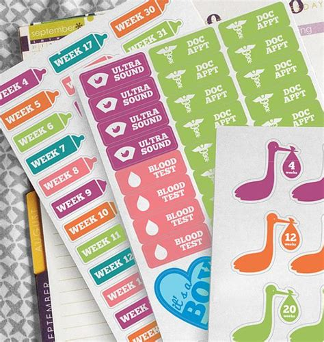 free printable pregnancy planner stickers pinterest the world s catalog of ideas
