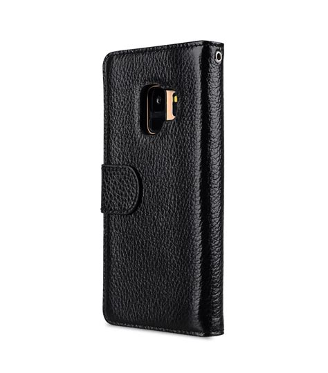 Lc Leather Black Series premium leather for samsung galaxy s9 wallet book