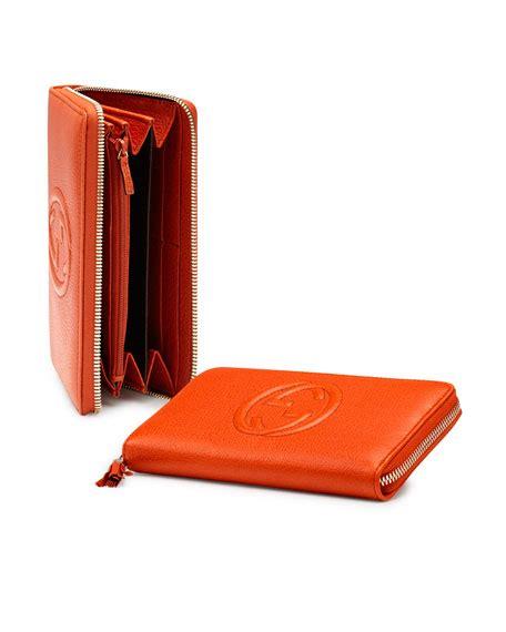 Gucci Ns Leather Orange gucci soho leather zip around wallet orange