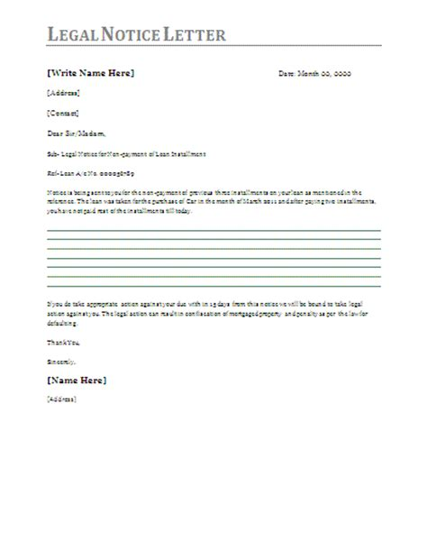 sample legal letters free printable documents