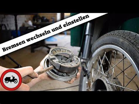 Youtube Motorradreifen Wechseln by Simson Grundlagen 11 Bremsen Wechseln Und Einstellen
